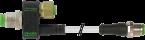 T-COUPLER M12FEMALE 8P/M12MALE+CABLE 4P+M12MALE 3P