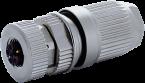M12 female 0° L-cod. field- wireable (IDC)