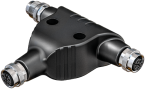 T-coupler M12 male L-coded/ 2x M12 female L-coded